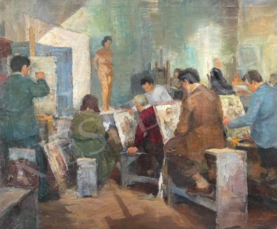 Eladó Fejes Gyula - Festőiskola, 1956 festménye