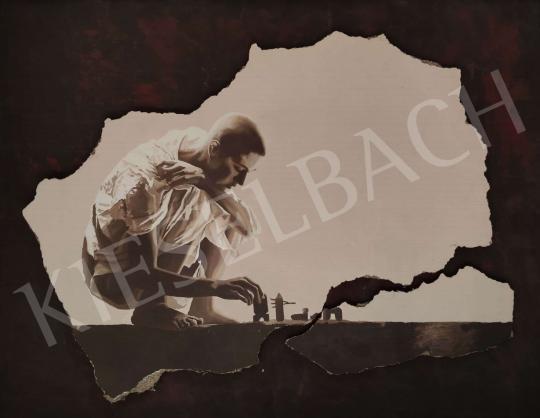 Eladó  Gellér B. István - Játszó fiú  festménye