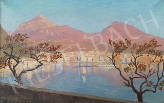 Eladó Ismeretlen festő - Vitorlás a Garda-tavon, 1922 festménye