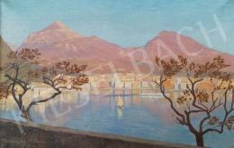 Ismeretlen festő - Vitorlás a Garda-tavon, 1922