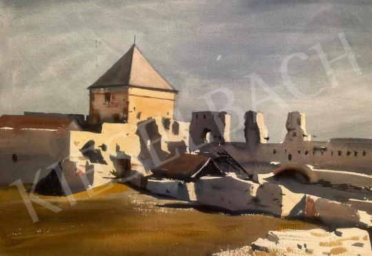 Eladó Dobroszláv József - Tatai vár (Tata) festménye