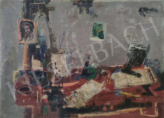 Eladó Tamás Ervin - Dolgozóasztal (Csendélet)  festménye