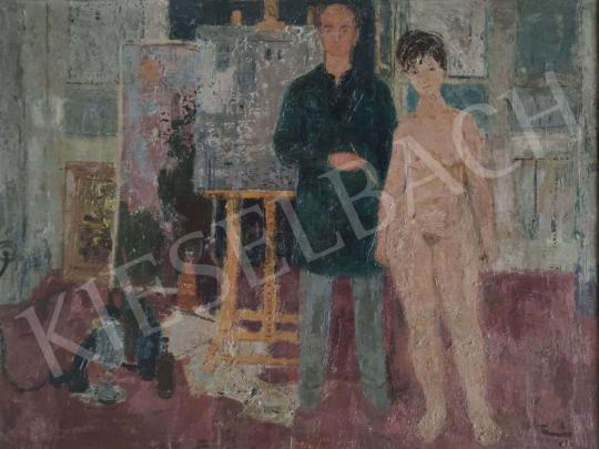 Eladó Tamás Ervin - Festő és modell festménye