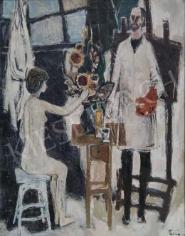 Tamás Ervin - Festő és modellje, 1965