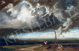 Telepy Károly - Magyar táj gomolygó felhőkkel (Gróf Berchtold Richárd, Gróf Berchtold Artur, Gróf Berchtold István)