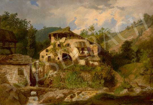 Eladó Telepy Károly - Öreg malom a hegyekben (Malom a Dolomitokban) festménye