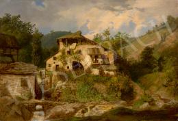 Telepy Károly - Öreg malom a hegyekben (Malom a Dolomitokban)