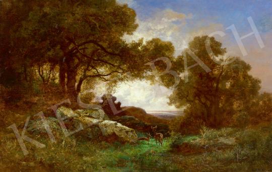 Eladó Kelety Gusztáv - Vadlesen (Kilátás a hegytetőről a folyóra), 1894 festménye