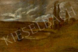Gulácsy Lajos - Felhővonulás (Emlékezés a tóparton, Itália), 1902 körül