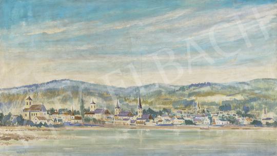Eladó  Gyimesi Lajos - Szentendre látképe a Duna felől festménye