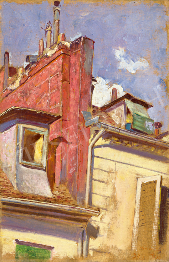 Eladó Márk Lajos - Párizsi háztetők (Kilátás a műteremből), 1892 festménye