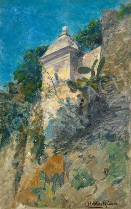 Nádler Róbert - Monaco (A palota őrtornya a tenger felől)