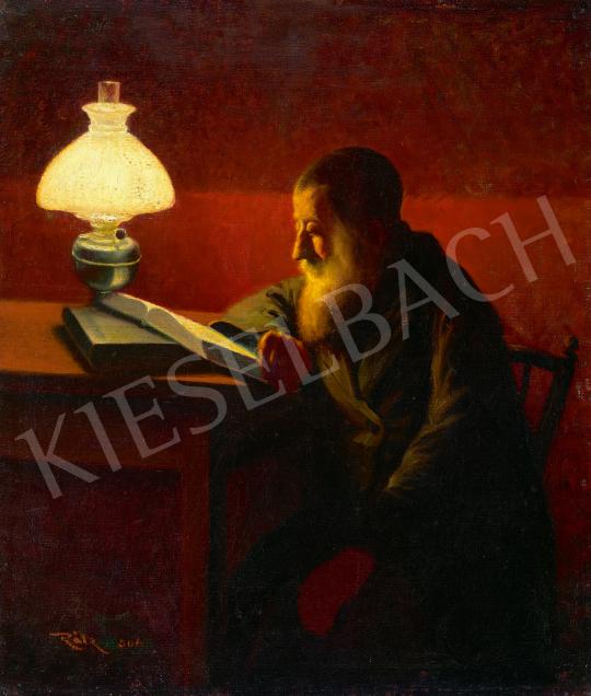 Eladó  Tagyosi Rátz Péter - Olvasó rabbi, 1906 festménye