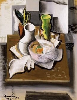 Bene, Géza - Still Life On a Table with a Green Vase
