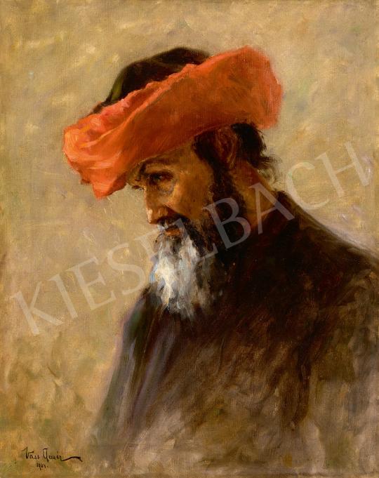 Eladó Vass Elemér - Gondolkodó rabbi, 1904 festménye