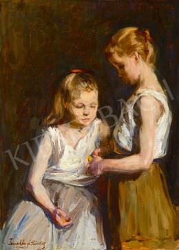 Zemplényi Tivadar - Narancsot hámozó gyerekek