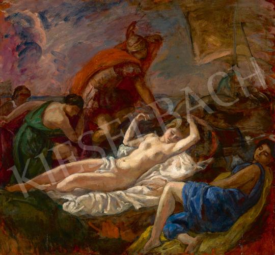 Eladó  Iványi Grünwald Béla - Thészeusz elhagyja Ariadnét, 1918 festménye