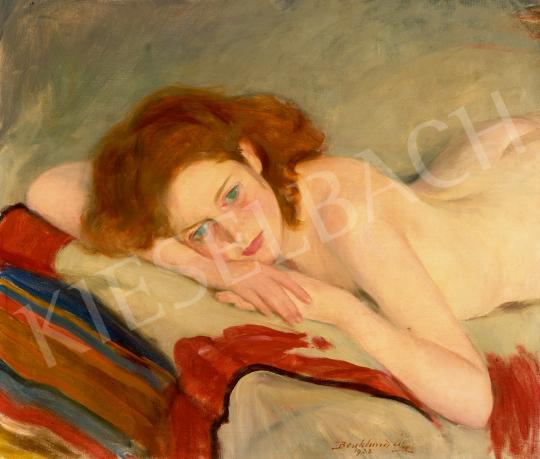 Eladó  Benkhard Ágost - Fekvő akt, 1932 festménye