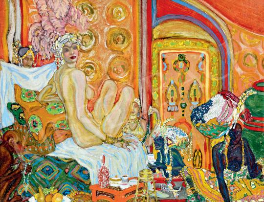 Eladó  Batthyány Gyula - Háremben, 1910 körül festménye
