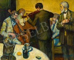 Szentes Béla - Párizsi kávéház, 1922