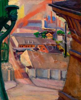 Tihanyi Lajos - Kilátás a műterem ablakból (Budapesti részlet), 1913