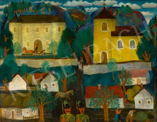 Eladó Pekáry István - Falu Balatonfelvidéken, 1935 festménye