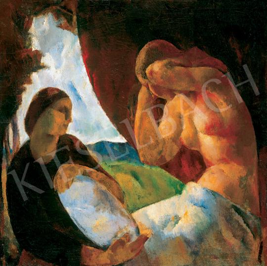 Eladó Fonó (Fleischer) Lajos - Tükör előtt, 1925 körül festménye