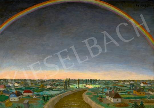 Eladó Fényes Adolf - Óriás szivárvány, 1920-as évek második fele festménye