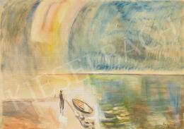 Egry József - Szivárvány a Balaton felett (Vihar után), 1938 körül