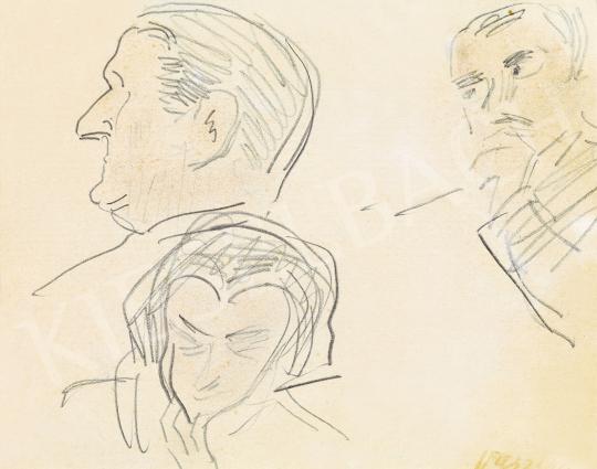Eladó  Vaszary János - Horthy Miklós profilja és más fejek festménye
