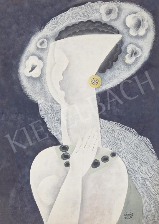 Eladó  Kádár Béla - Art deco lány (Josephine Baker), 1930 körül festménye