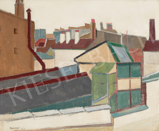 Eladó  Barcsay Jenő - Párizsi háztetők, 1920-as évek festménye