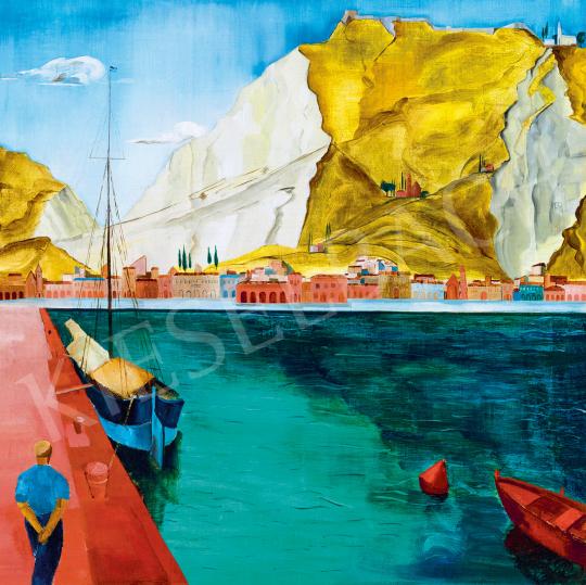 Eladó Freytag Zoltán - Olasz kikötő, 1930-as évek festménye