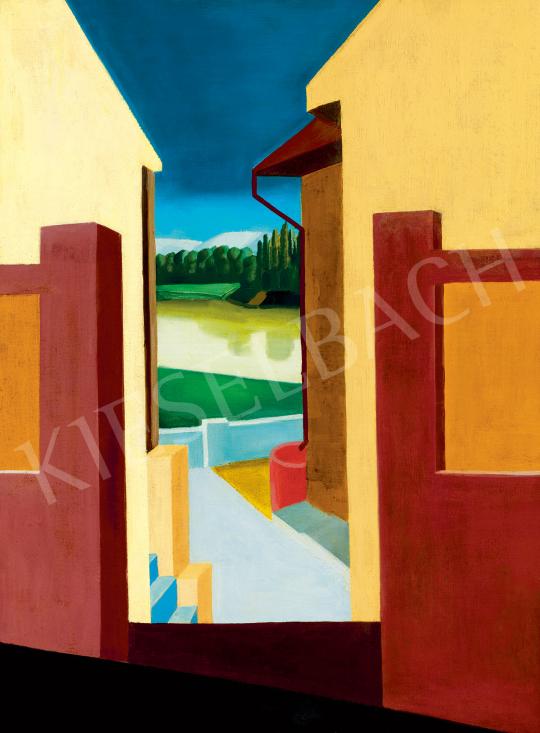 Eladó Freytag Zoltán - Kilátás a házak közül (Szentendrei részlet), 1930 körül festménye