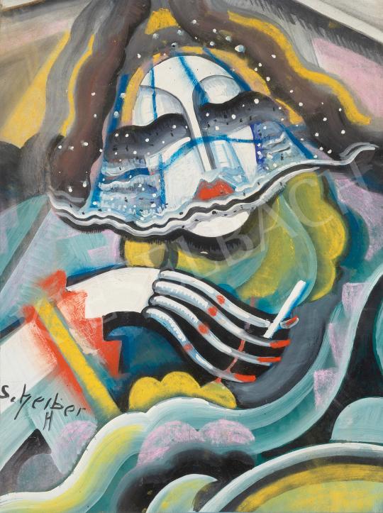 Eladó  Scheiber Hugó - Art deco nő, 1930 körül festménye