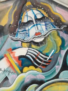 Scheiber Hugó - Art deco nő, 1930 körül
