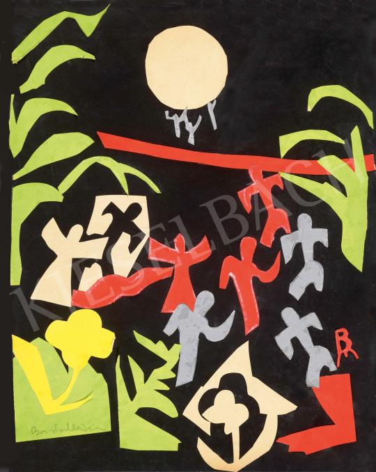 Eladó  Barta Mária - Art deco életkép (Holdtánc), 1930-as évek festménye