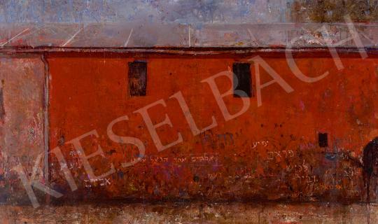 Eladó  Frey Krisztián - Vörös falú ház (Írás a falon), 1950-es évek vége festménye