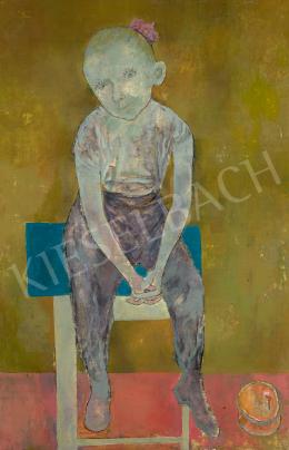 Maurer Dóra - Kislány hokedlin (Editke),1960