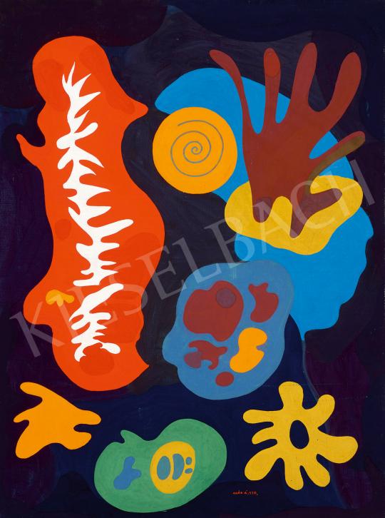 Eladó  Illés Árpád - A világ teremtése, 1978 festménye