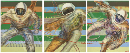 Eladó  Siskov Ludmil - Astronaut, 1969–70  - Triptych festménye