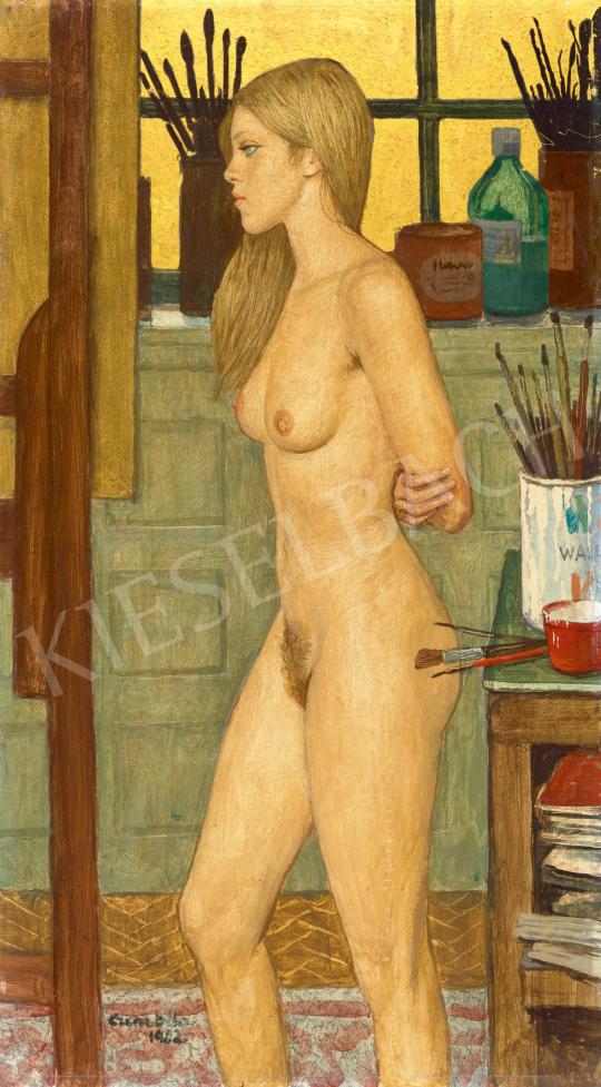 Eladó  Czene Béla - Női akt műteremben, 1982 festménye