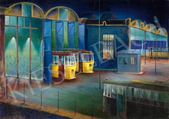 For sale  Bernáth(y), Sándor - Wain House at Night, c. 1974 's painting