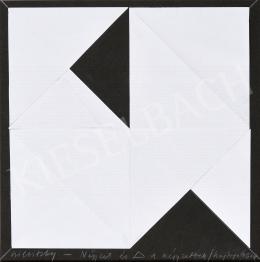 Szilvitzky Margit - Négyzet és háromszög a négyzetben hajtogatással, 1977