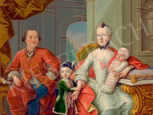 Eladó  Ismeretlen 18. századi közép-európai barokk festő - Arisztokrata család, 1760 körül festménye