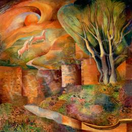 Klie Zoltán - Kozmikus táj (Vágtázó lovak), 1934