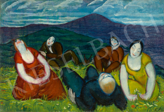 For sale  Endresz, Alice - Art Company on the Hill-Side (Picnic in Buda Hills), c. 1930 's painting