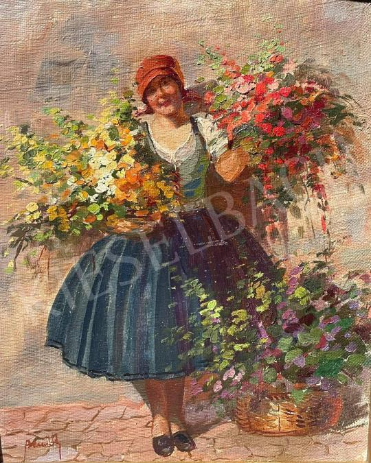 Bernáth Ilma - Virágárus lány festménye