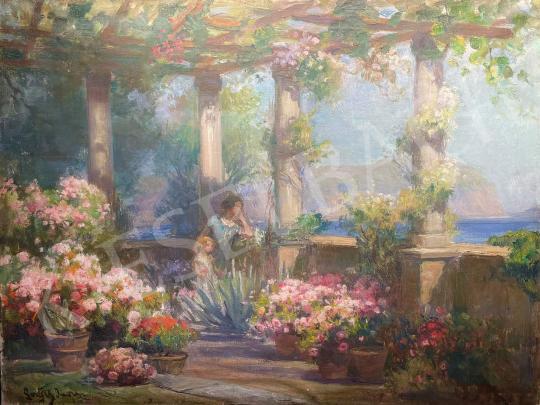 Eladó Gergely Imre - Olasz nyár festménye
