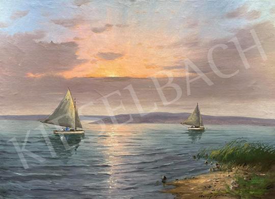 For sale  Gyula Méray  - Balaton, Sailboats 's painting